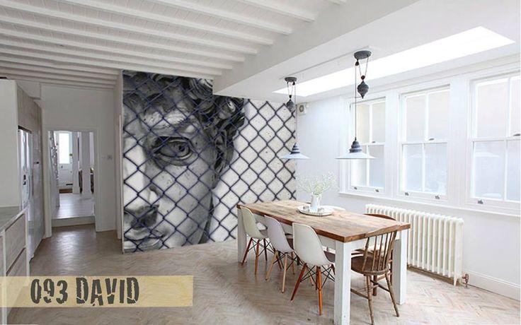 Quando la carta da parati ruba la scena.. #Creativespace #Wallpaper #CartaDaParati #Arredamento #Design #InteriorDesign #Interni #Cucina