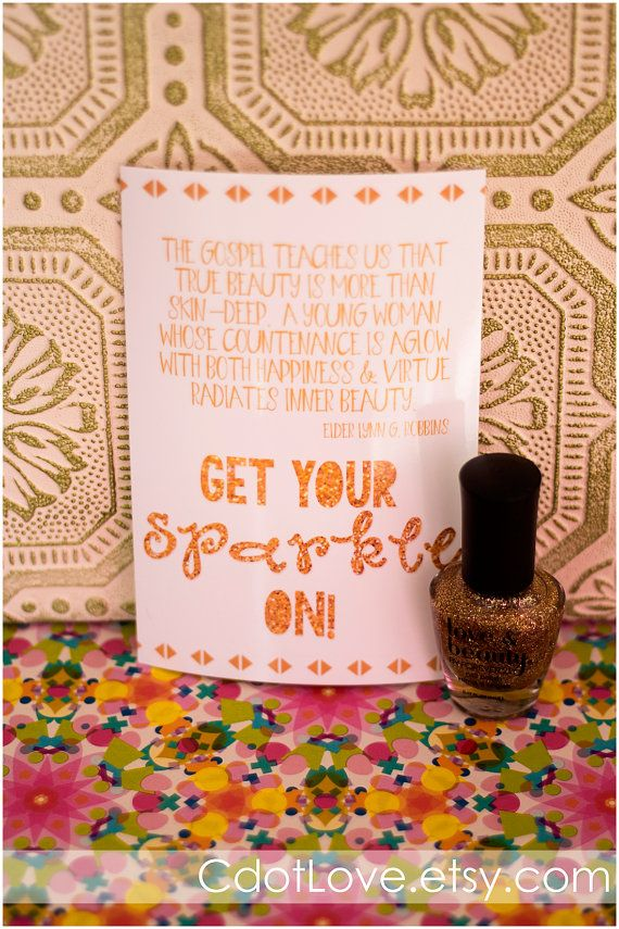 Girls camp handouts Get your SPARKLE on INSTANT by CdotLove