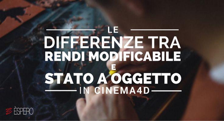 """Carlo Macchiavello ci spiega le differenze tra """"rendi modificabile"""" e """"stato a oggetto"""". Clicca qui per iscriverti subito al corso Cinema4D da noi: http://www.espero.it/corsi-cinema-4d?utm_source=pinterest&utm_medium=pin&utm_campaign=3DArchitecture"""