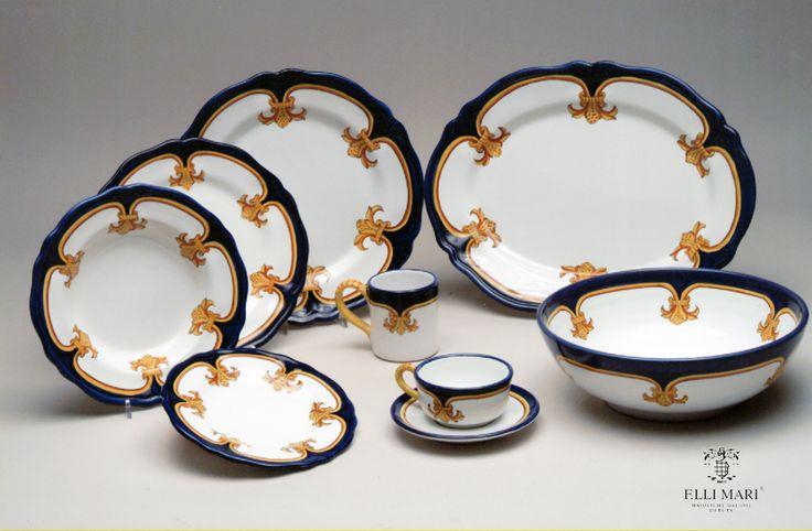 "Collection ""Giglio d'oro"". Ceramics 100% Made in Italy. #italianceramics #handmade #madeinitaly"