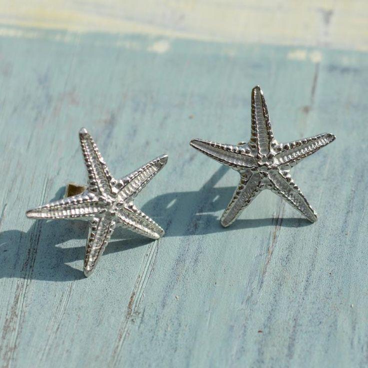 Handcrafted Pewter Starfish Stud Earrings - CoastalHome.co.uk jewellery