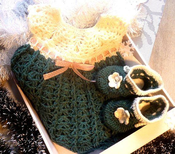 Baby Girl Crochet Set Crochet Baby Dress Crocheted set Baby