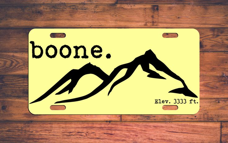 BOONE NC License Plate - Express Yosef! Appalachain State ASU - Mountaineers…