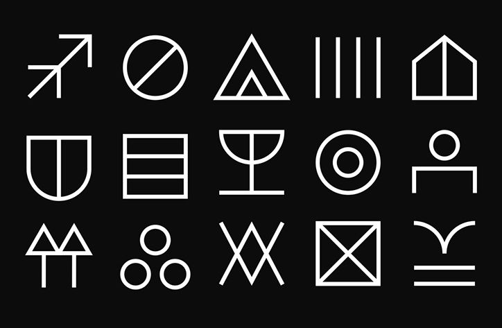 It's Nice That   Back to basics with Davide Di Gennaro's symbol-heavy design workshop identity