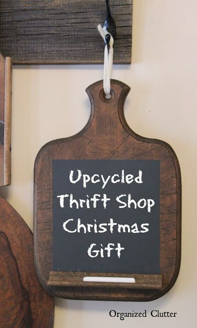 Thrift Shop Makeovers Make Great Christmas Gifts via OrganizedClutter.net
