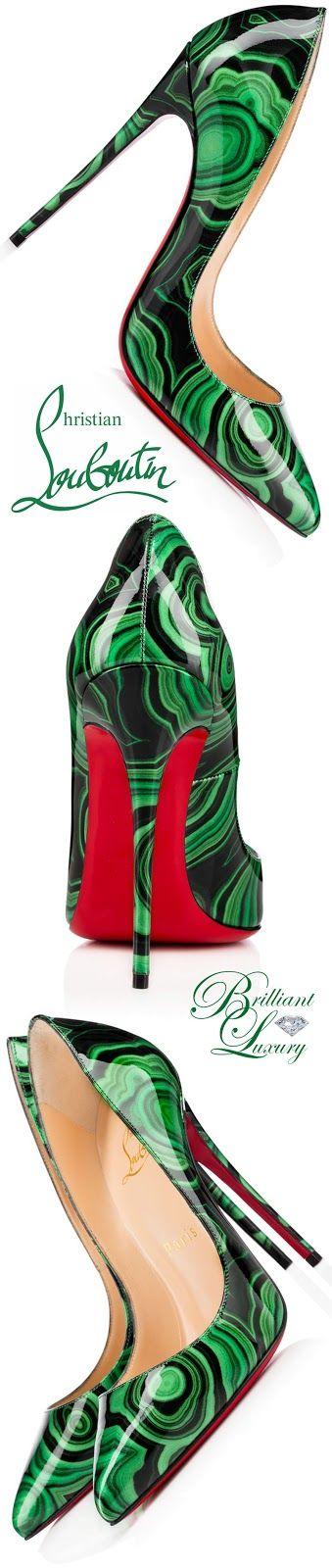Brilliant Luxury * Christian Louboutin Pigalle Follies Patent Malachite Pumps