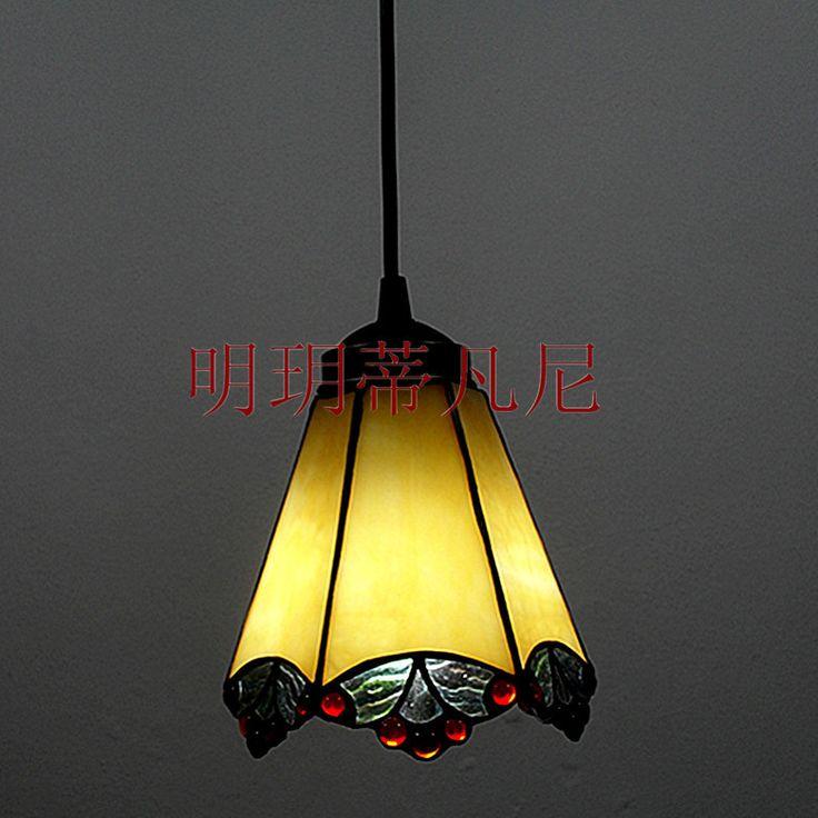 Краткое современный небольшой подвесной tieyi multicolour стекло лампы бар вход балкон антикварная лампа