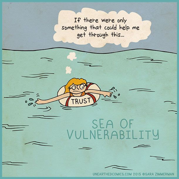 psychology humor and comics about being vulnerable and trusting