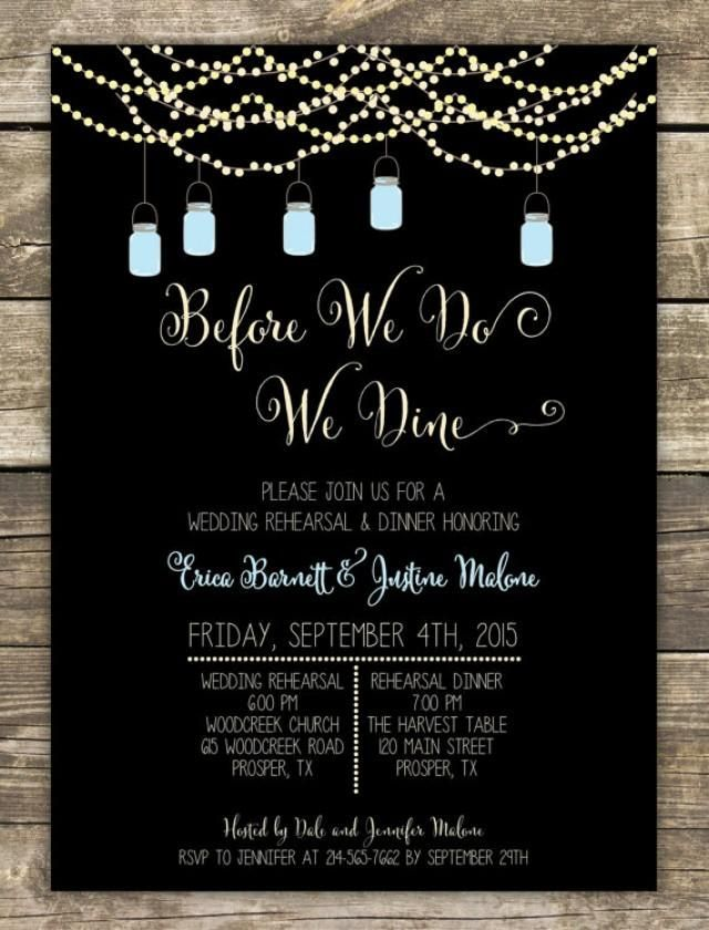 Best 25 Rehearsal dinner decorations ideas – After Rehearsal Dinner Party Invitations