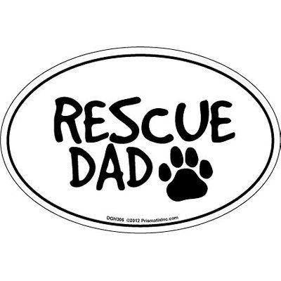 Prismatix Cat & Dog Magnets-Rescue Dad - ValuCrafts.com
