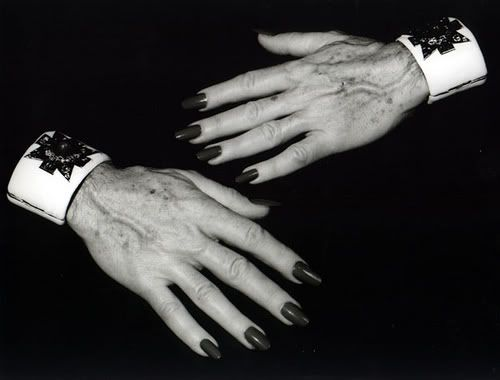 Diana Vreeland's hands // Verdura cuffs