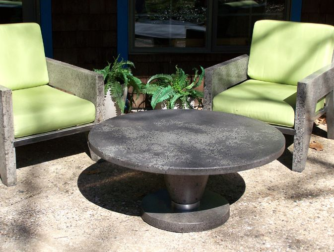 Concrete Coffee Table By Curt Pieper Http://www.naturalconcreteartistry.com/