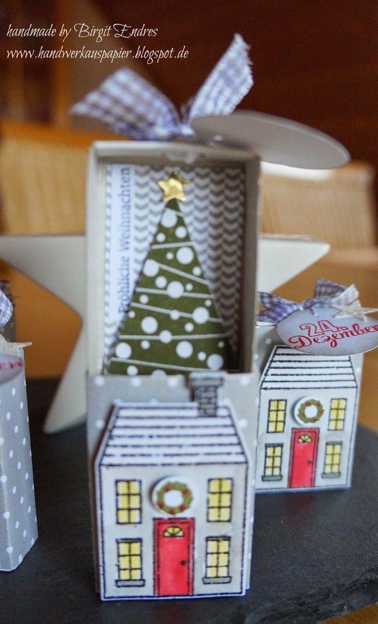 HandWerk aus Papier: Weihnachten in der Streichholzschachtel