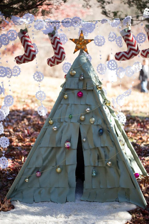 Christmas Tree Kids Teepee Tent