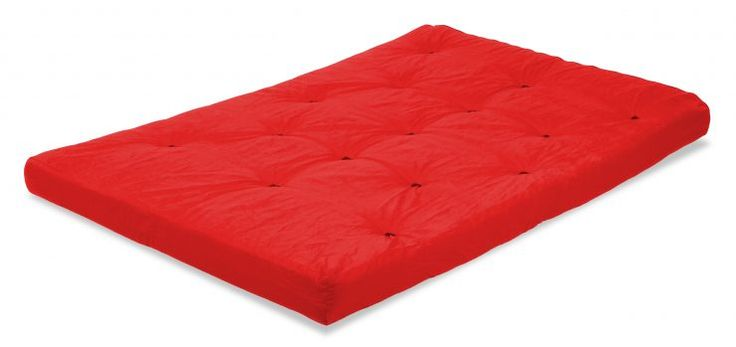 traditional futon mattresses red color