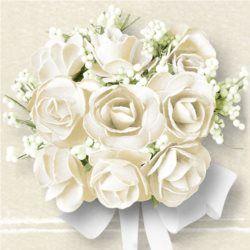 Serwetka papierowa - White Roses - 00413
