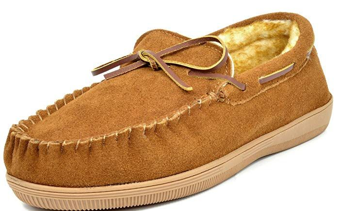 DREAM PAIRS Men/'s Fur-Loafer Suede Slippers Loafers Shoes