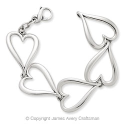 Bracelet of Hearts from James Avery  My New Addition from James Avery!!!!: James Avery, Gift, Style, Bracelets, Jamesavery, James D'Arcy, Avery Jewelry, Products