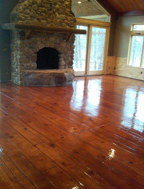 Faux concrete wood resurfacing contractor cincinnati ohio for Wood floor contractors