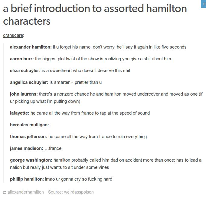 hamilton burr schuyler sisters laurens lafayette mulligan jefferson madison washington text post