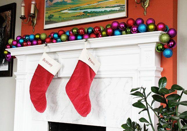 Make a DIY Ornament Garland in 10 Minutes or Less via Brit + Co.