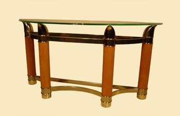 Wood-metal-glass console
