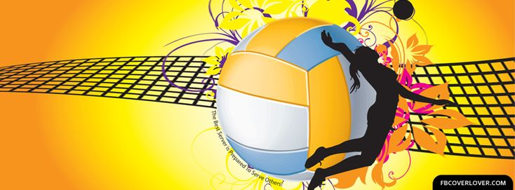 Volleyball 2 Facebook Cover. Voleibol.