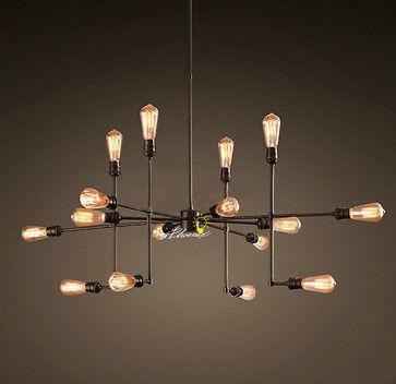 18 best lighting images on pinterest industrial restaurant light edison bulb fixture aloadofball Images