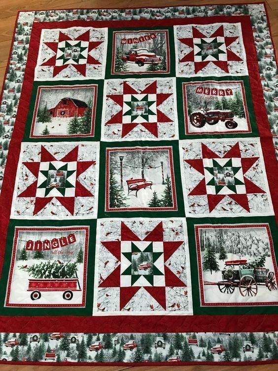 Christmas CLA1410133Q Quilt Throw Blanket Soft Cozy 5