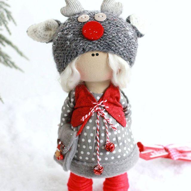 Оленюша❤ Продается❤ В том году я сделала первую свою оленюшу, в этом я решила ,что оленюша должна быть обязательно❤ #новыйгод#инстаграмм#куклы#фотография#фотограф#photo#dolls#dollstagram#dollmilamas #instadolls