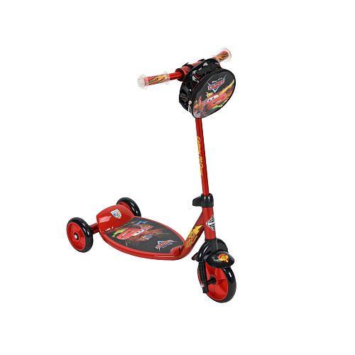 Huffy Disney Cars  Wheel Preschool Scooter With Handlebar Bag