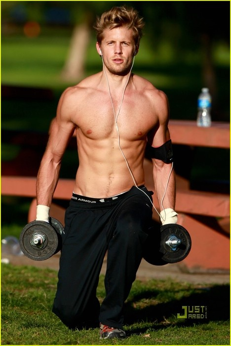 Matt Barr - who I think of every time I read Catching Fire (Finnick, anyone???)