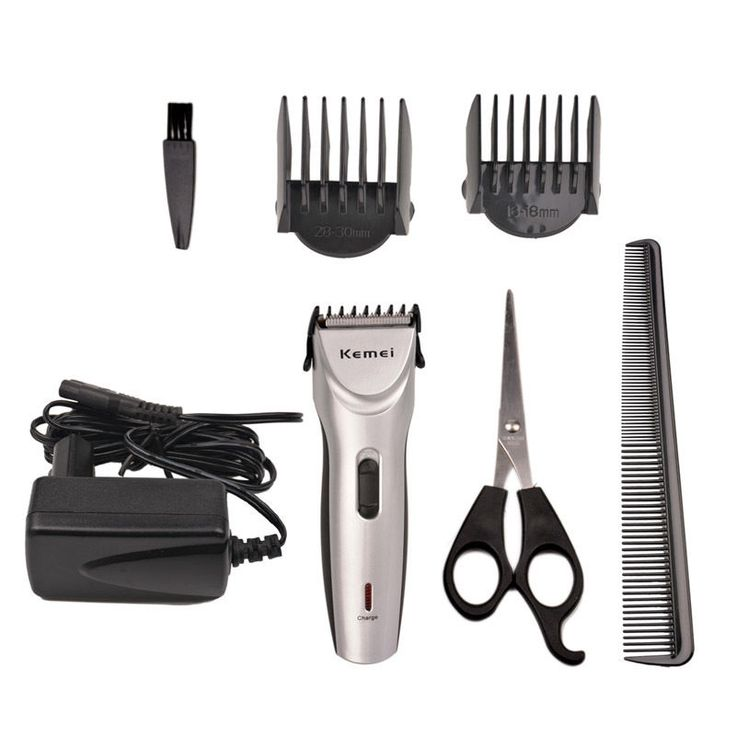 Kemei Rechargeable Hair Clipper Trimmer Comb Kit Electric Grooming Shaver Razor #Unbranded