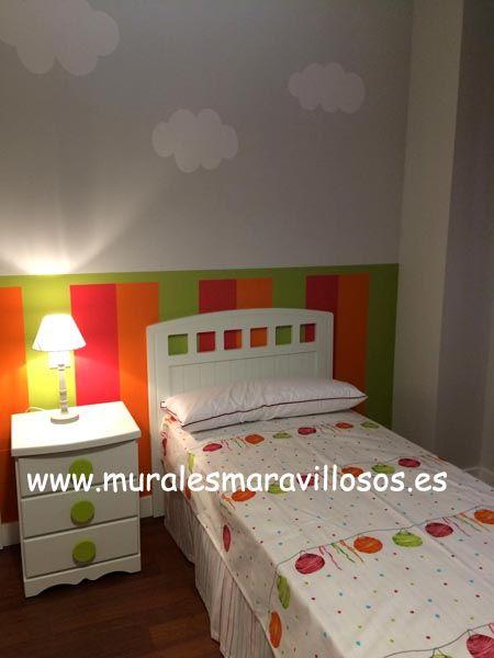 cuartos infantiles pintados a rayas zcalos en dormitorios nios y bebstoda espaa