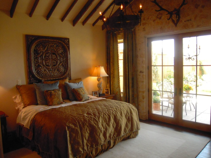 bedrooms, style Tuscan |  Tuscan Texas style bedroom Tuscan
