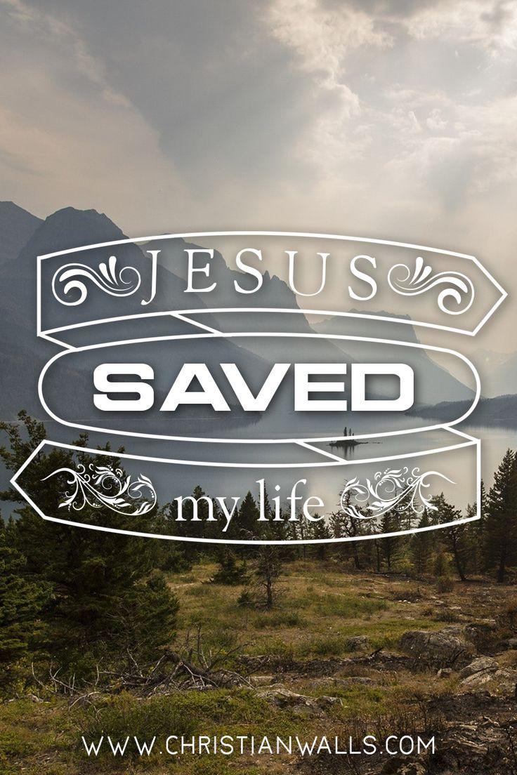 Jesus Saved My Life Christian Quotes Wall Art Canvas Jesus Jesus