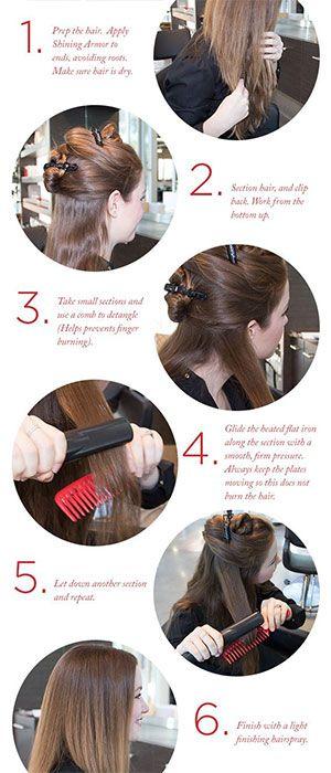 Straight Hair Hacks Tips Tricks Flat Iron Tutorial Straight Hair Smooth And Hair Style