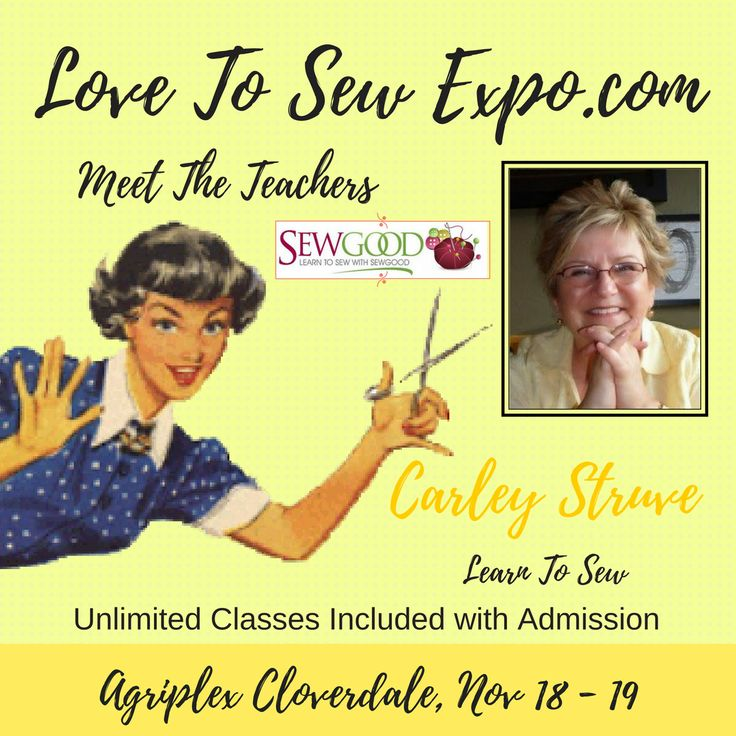 Love To Sew Expo Teacher @sewgoodca