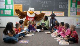 Eddie Eagle Gun Safety Page - If you see a gun:    STOP!  Don't Touch.  Leave the Area.  Tell an Adult.  #Safety #Prevention