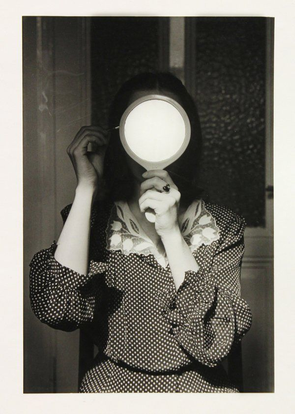 Christine with Mirror - André Gelpke, 1977.