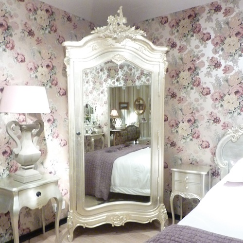 Stunning Bedroom Furniture From Our Tiffany Collection Silver Tiffany  Collection French Armoire : Beau Decor