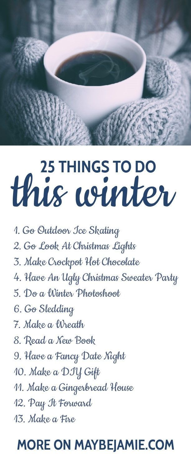 Winter has so many fun activities to offer, like some of these!