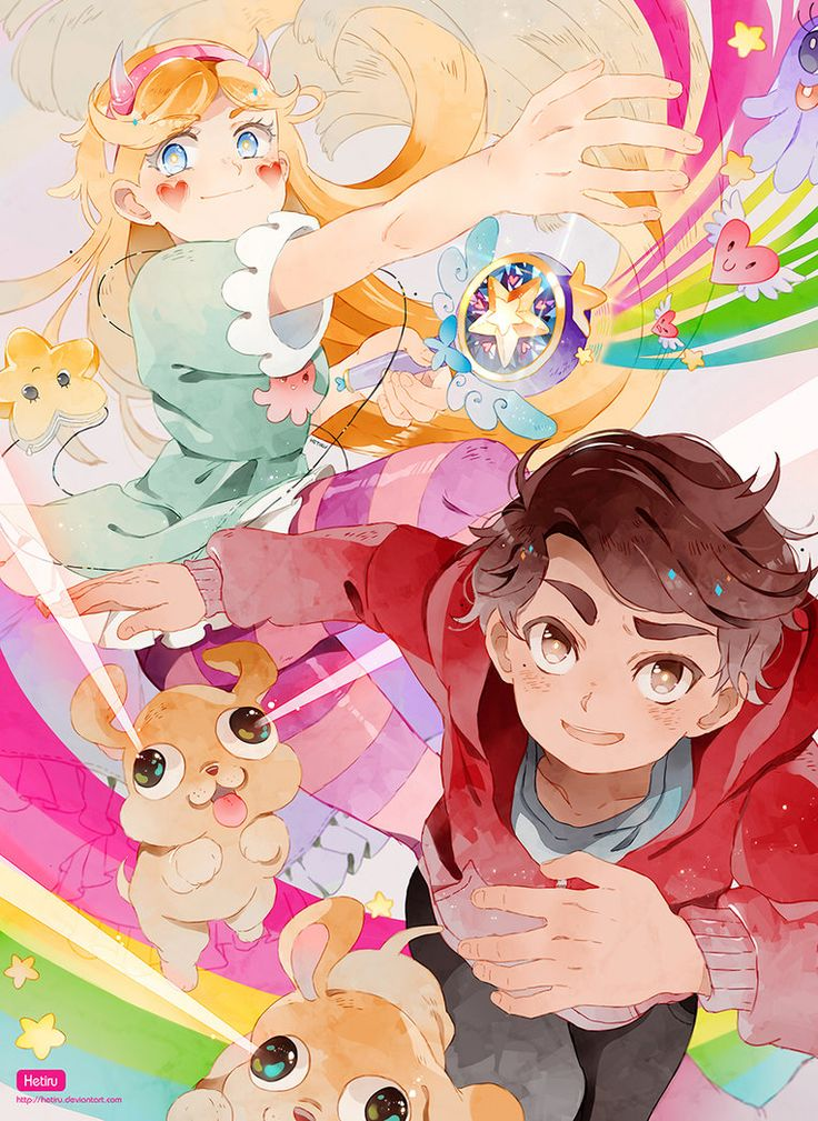 .Star vs. the Forces of Evil + SPEEDPAINT. by Hetiru.deviantart.com on @deviantart  credits to the owner <3 this is just lovely <3