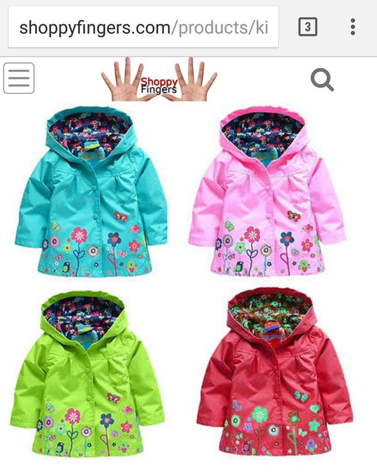 Shoppyfingers.com - Girl's raincoat #shoppyfingers #shopping #girls #rain #rainyday
