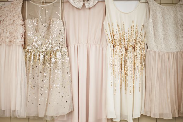 gold(sub. Silver) + blush bridesmaid dresses | Genevieve Renee Photographie #wedding