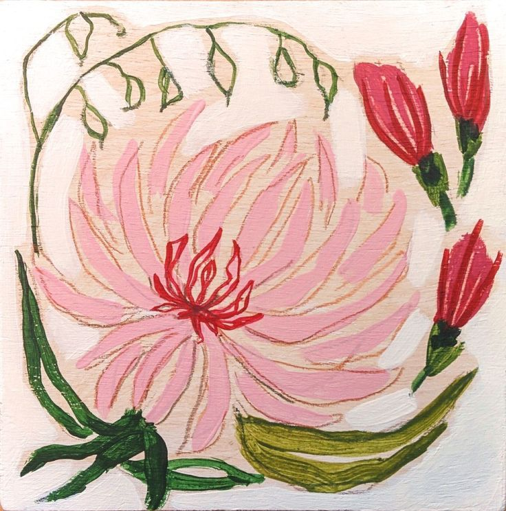 """New Small Paintings series """"Flowers of May"""" #1   This little Painting is from my new series of """"Flowers of May"""". I will be publishing one small Flowers Painting each day of May to celebrate mom'..."""