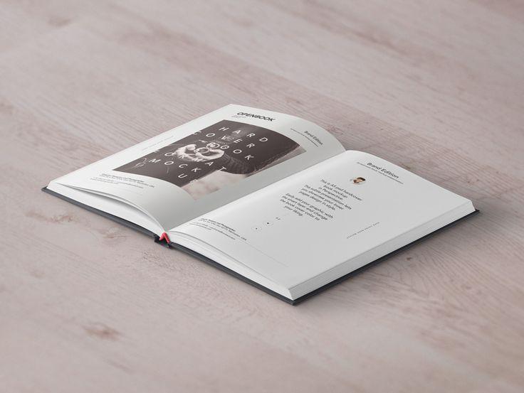 Mockup libro abierto psd v4