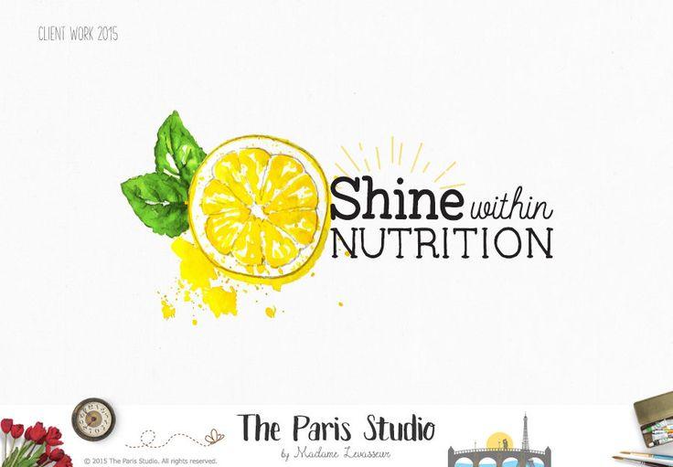 custom logo design watercolor logo fruits logo veggie logo floral logo design website logo blog logo business logo photography logo branding #LogoDesign  #Wordpress #Website #blog #boutique #Branding #restaurant #photography