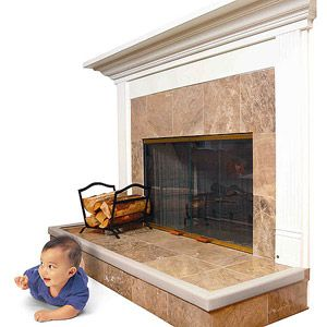 Industrial fireplace screens and Padded bench