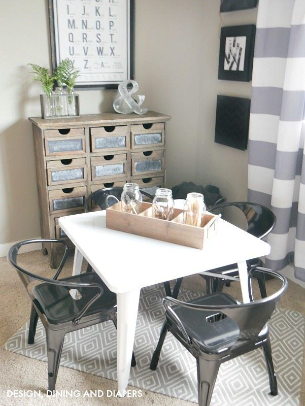 Farmhouse Kid S Table And Chair Set Kids Table And Chairs Diy
